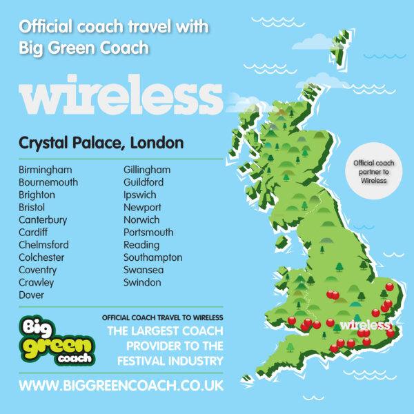 Big Green Coach at Wireless 2021