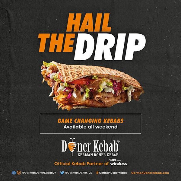 German Doner Kebab at Zapp presents Wireless Festival 2021